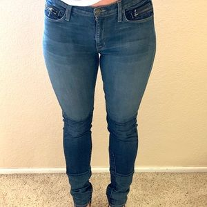 Two toned Hudson skinny jeans